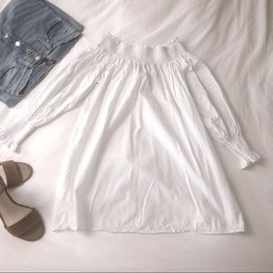 Forever 21 White Off the Shoulder Tunic Blouse - S